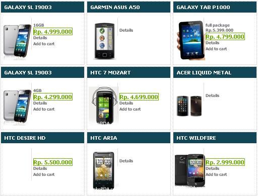 DaftarHargaHandphone Android Terbaru 2013
