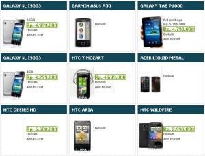 Daftar Harga android